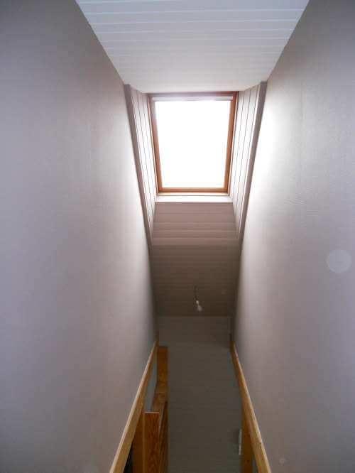 cage d'escalier après