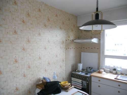 Mise en peinture d'une cuisine avant travaux