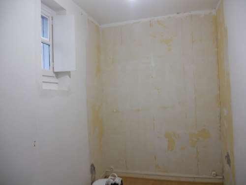 Mur en peinture laqué brillante