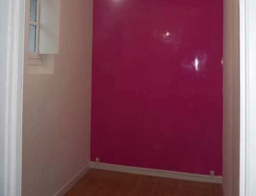 Mur peinture en laque