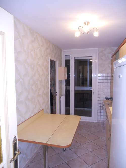 Papier-peint dans une cuisine