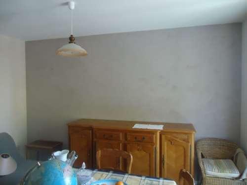 peinture à la chaux dans un salon