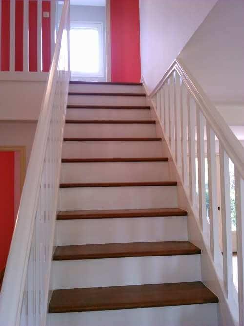 Peinture des contremarches d'un escalier