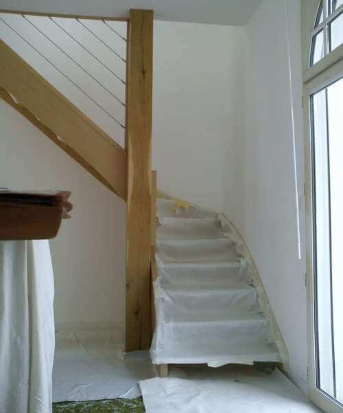 Rénovation de l'escalier de l'appartement