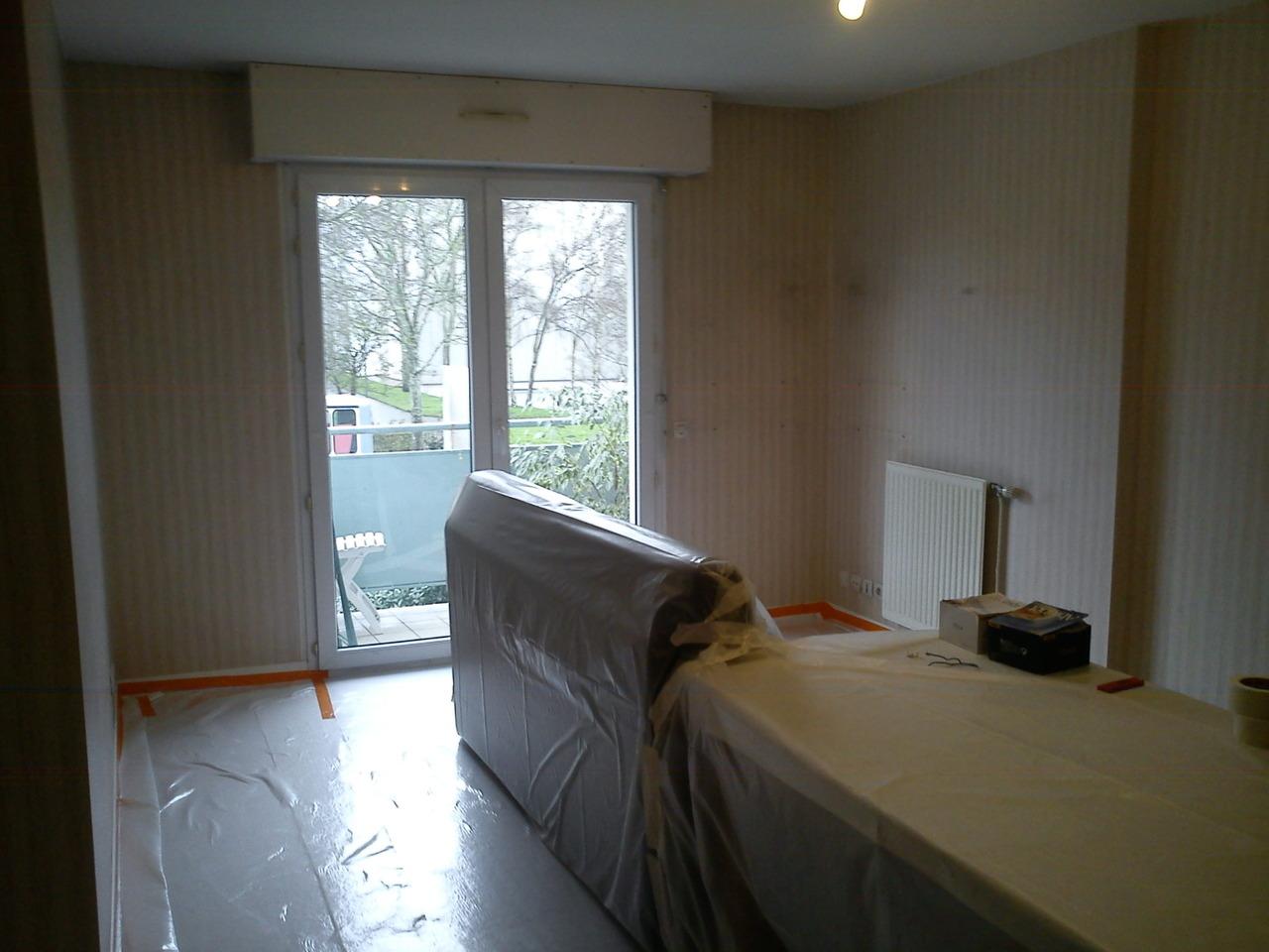 <p>démarrage travaux, protections parquets & meubles</p>